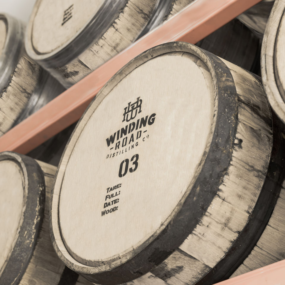Winding Road Distilling Co Barrels